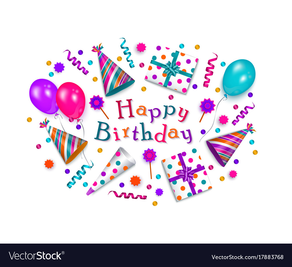 birthday wishes poster making ; happy-birthday-greeting-card-banner-poster-design-vector-17883768