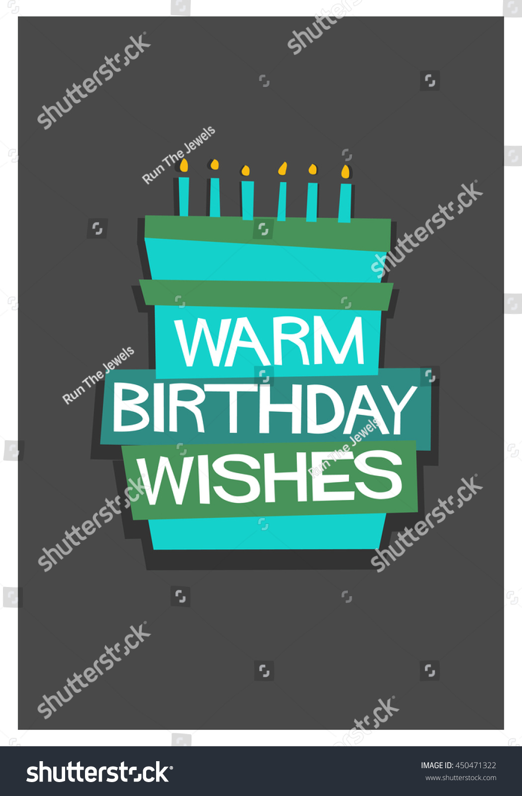 birthday wishes poster making ; stock-vector--warm-birthday-wishes-written-on-a-cake-vector-illustration-in-flat-style-poster-design-450471322