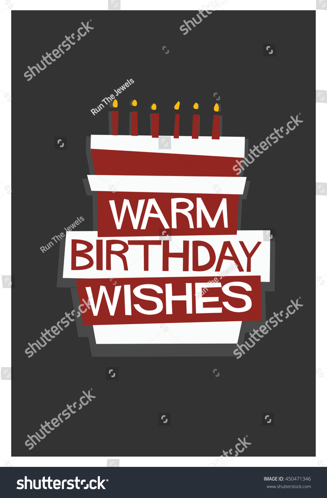 birthday wishes poster making ; stock-vector--warm-birthday-wishes-written-on-a-cake-vector-illustration-in-flat-style-poster-design-450471346