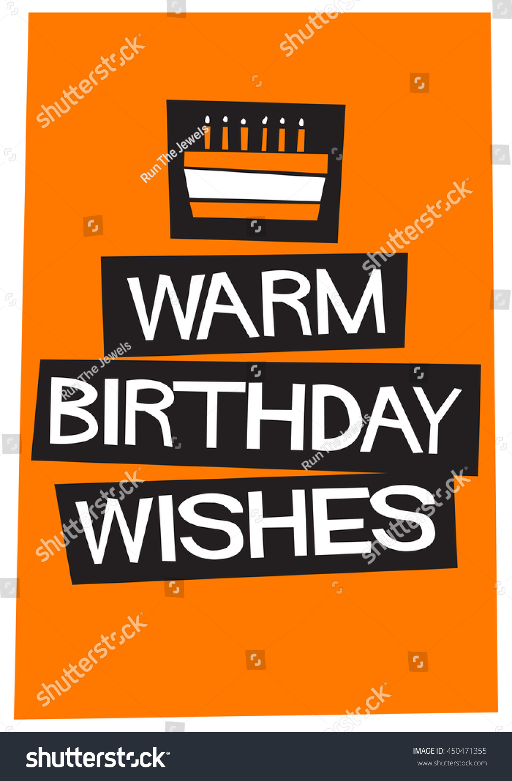 birthday wishes poster making ; stock-vector--warm-birthday-wishes-written-on-a-cake-vector-illustration-in-flat-style-poster-design-450471355