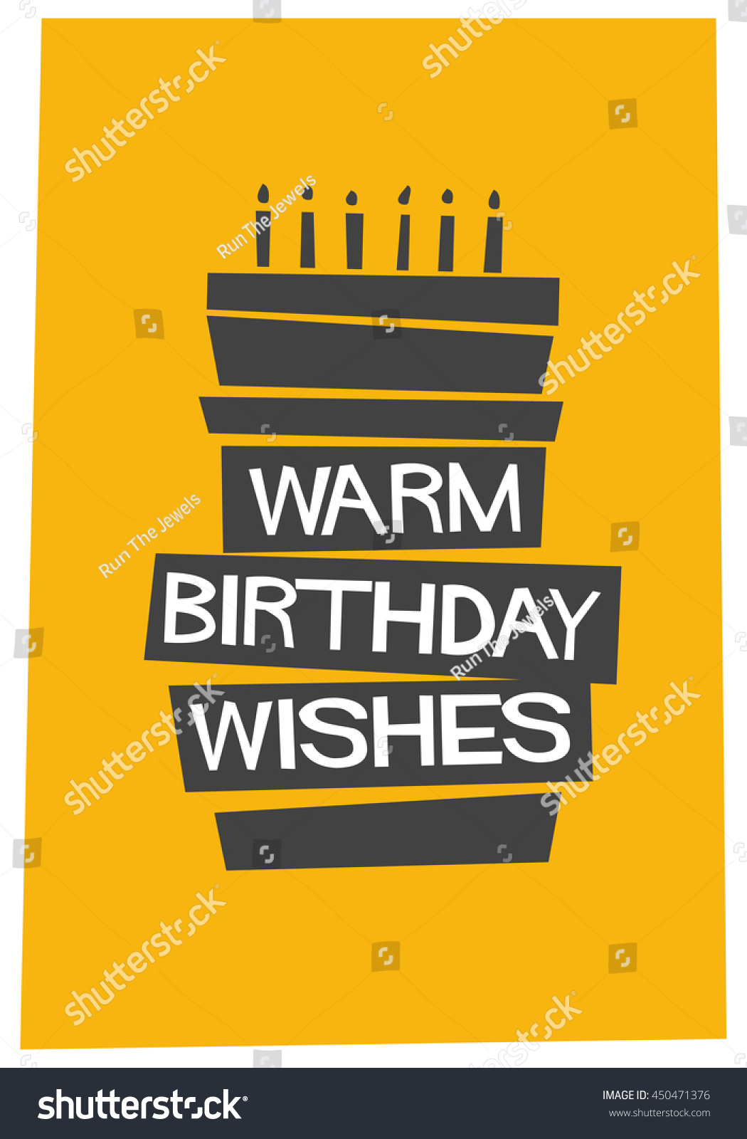 birthday wishes poster making ; stock-vector--warm-birthday-wishes-written-on-a-cake-vector-illustration-in-flat-style-poster-design-450471376