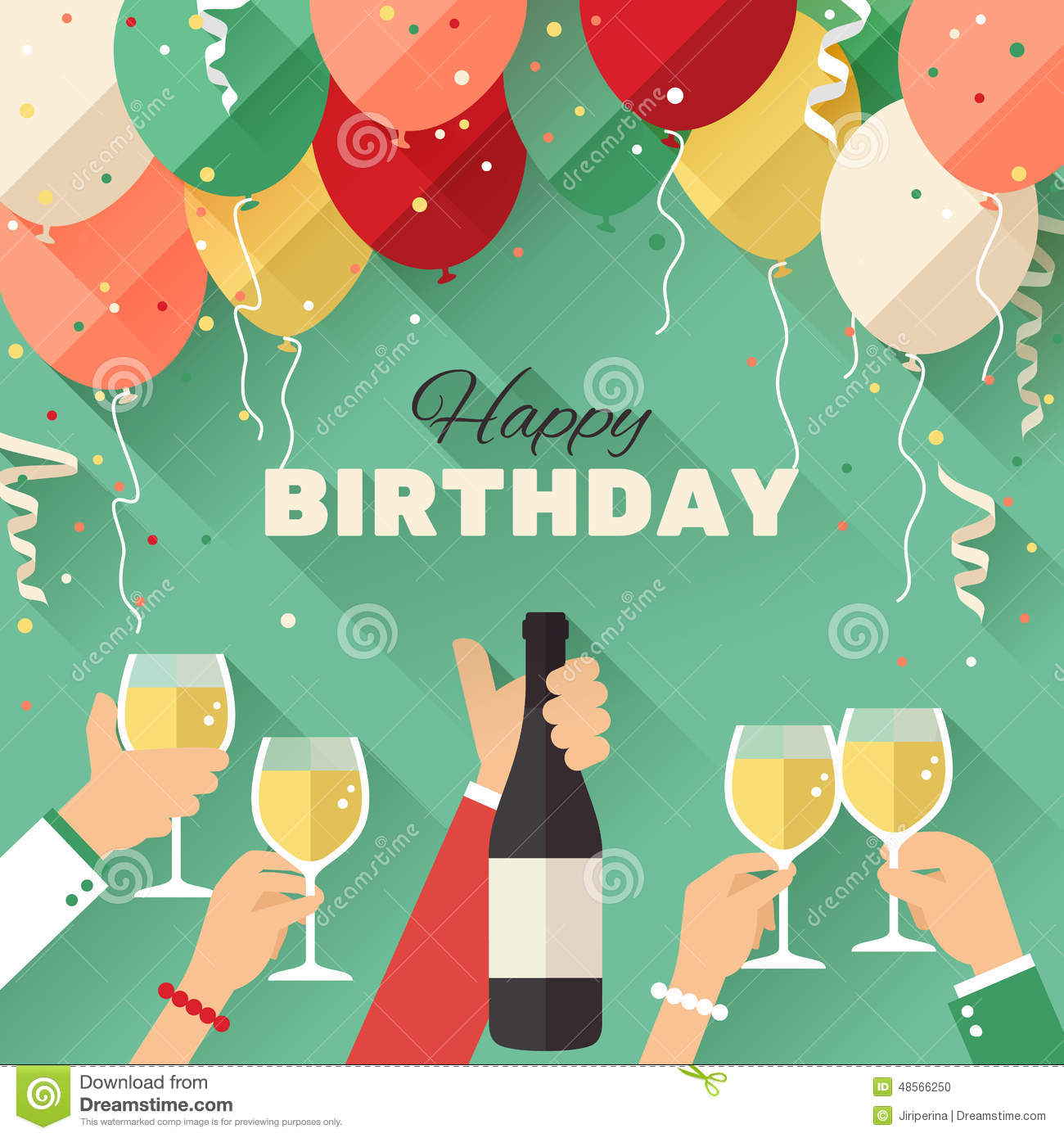 birthday wishes posters ; birthday-party-announcement-poster-flyer-greeting-card-flat-style-48566250