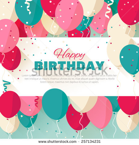 birthday wishes posters ; stock-vector-happy-birthday-announcement-poster-flyer-greeting-card-in-a-flat-style-257134231