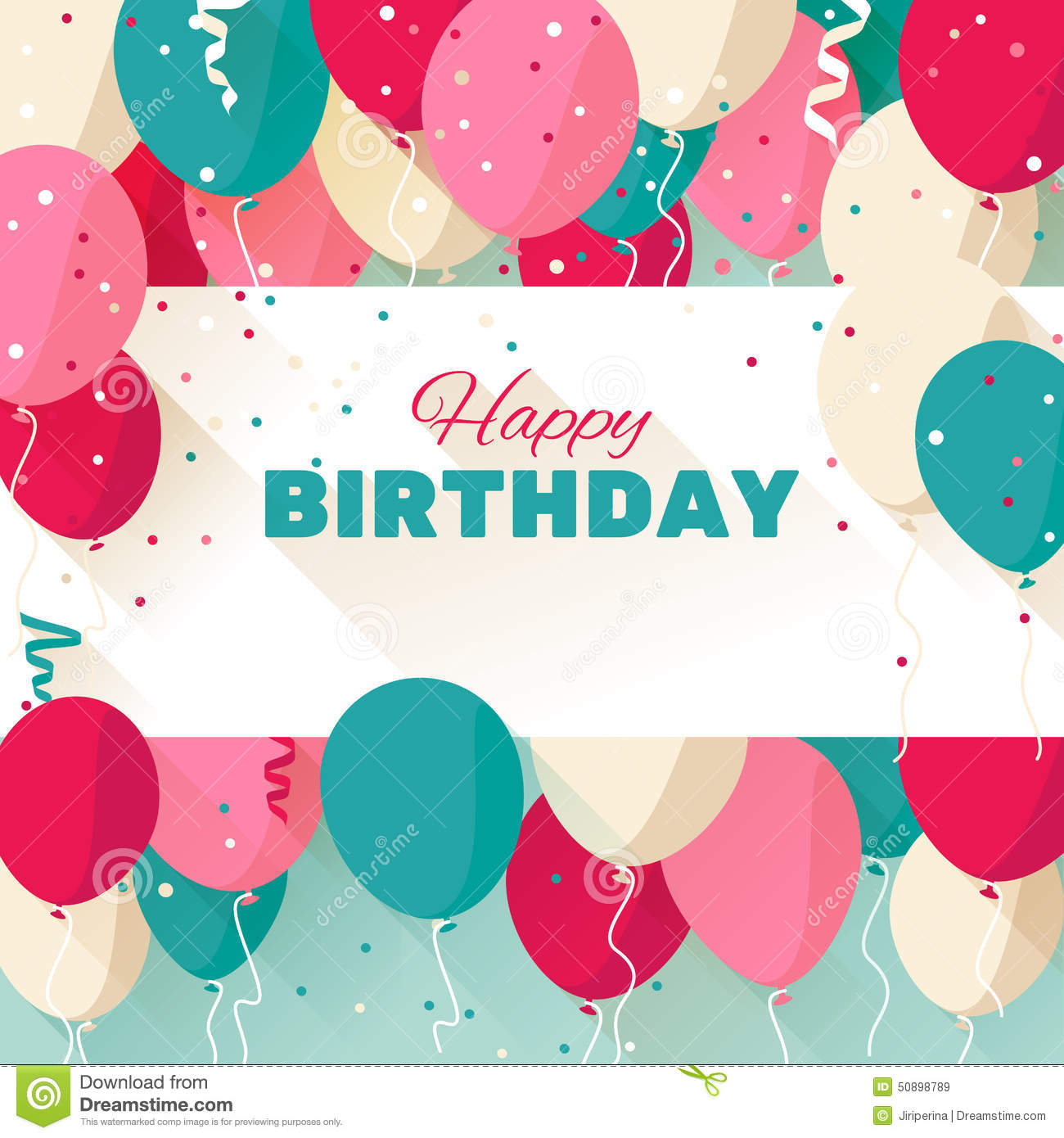 birthday wishes posters free ; happy-birthday-greeting-card-flat-style-announcement-poster-flyer-vector-illustration-50898789