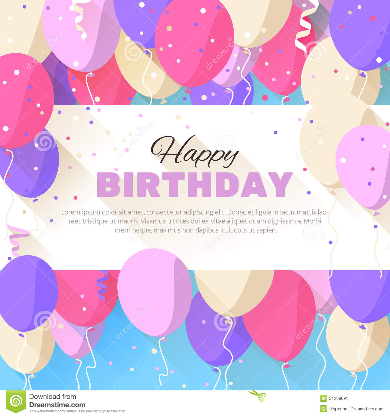 birthday wishes posters free ; happy-birthday-greeting-card-flat-style-announcement-poster-flyer-vector-illustration-51209091