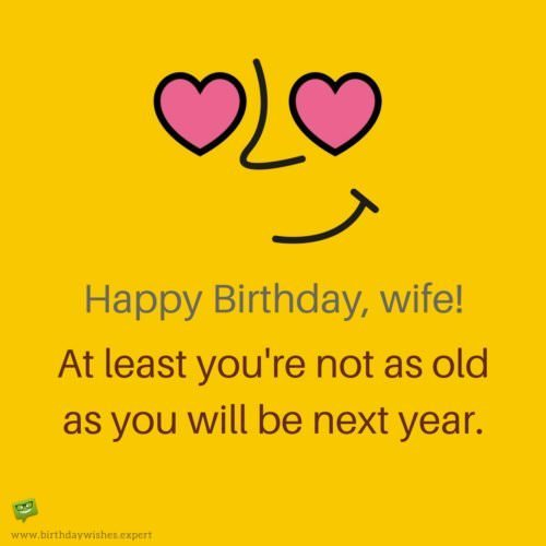 birthday wishes reply message to wife ; Funny-birthday-wish-for-wife