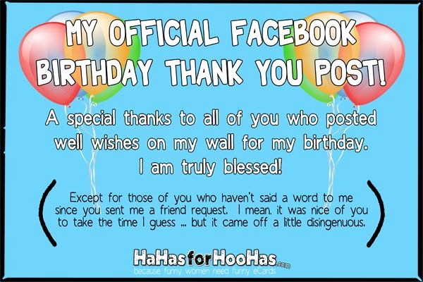 Birthday Wishes Thanks Message Facebook Quotes Saying Thank You For
