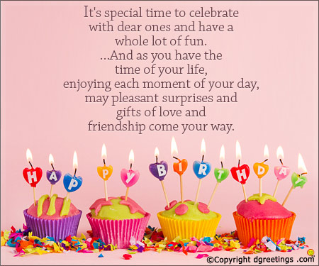 birthday wishes to message ; birthday-special-time