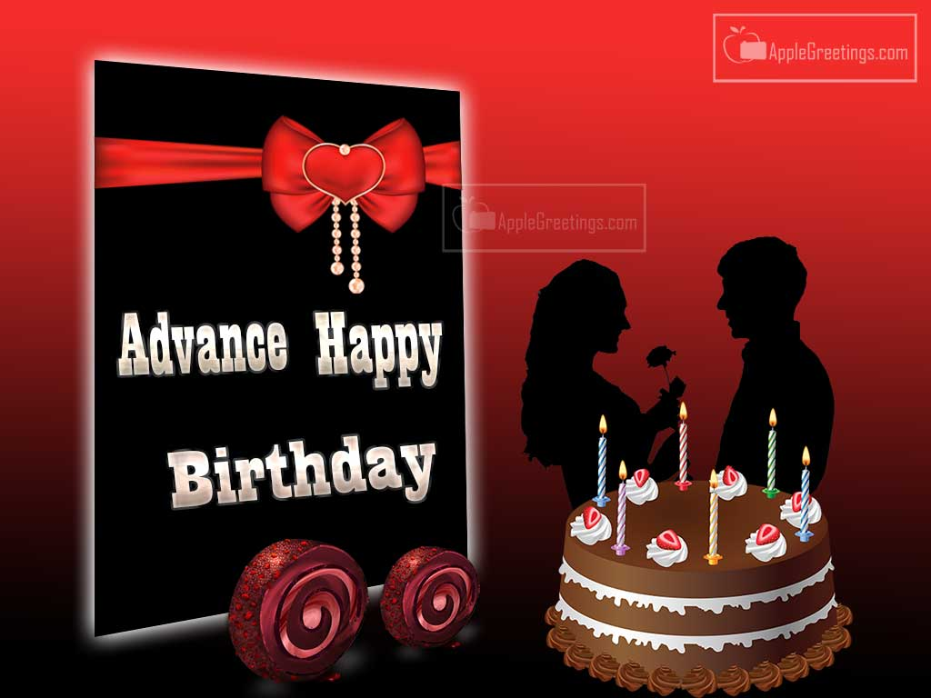 birthday wishes wallpaper for lover ; T-897