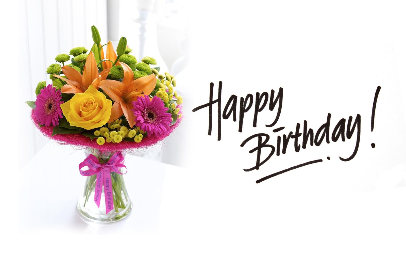 birthday wishes wallpaper hd ; beautiful-happy-birthday-bouquet-of-flowers-HD-wallpaper-image