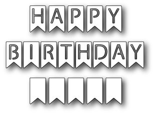 black and white happy birthday sign ; 1144-happy-birthday-banner-flags-poppystamps-die-12921-p