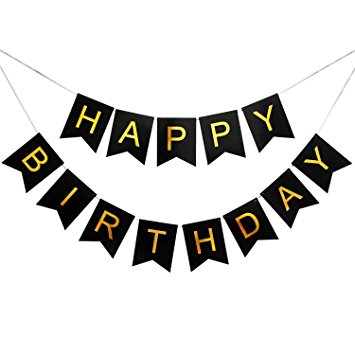 black and white happy birthday sign ; 71Dab5M6ntL