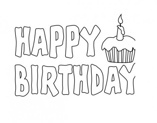 black and white happy birthday sign ; 919e9266ae95654c4b75a9207a70bec4