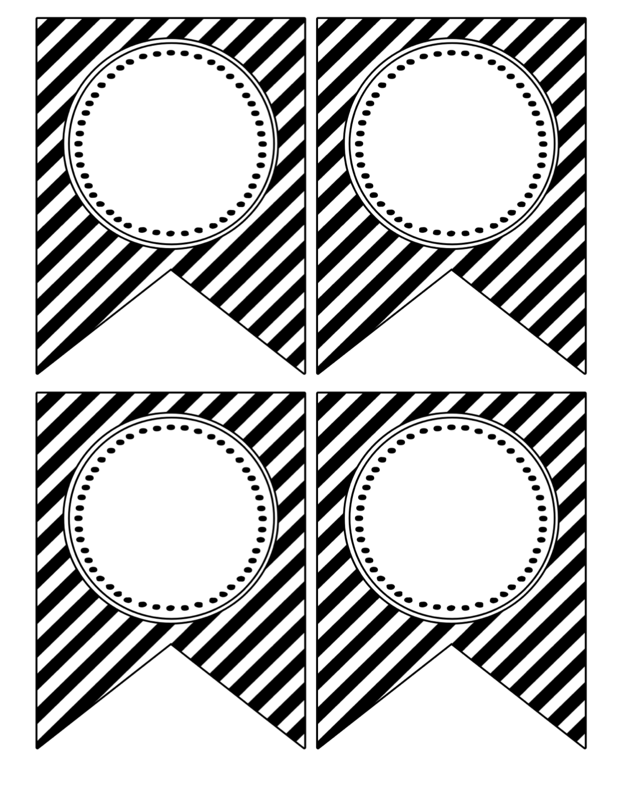 black and white happy birthday sign ; black-white-blank-banner