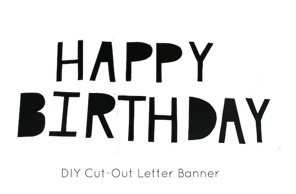 black and white happy birthday sign ; happybirthdaybanner1