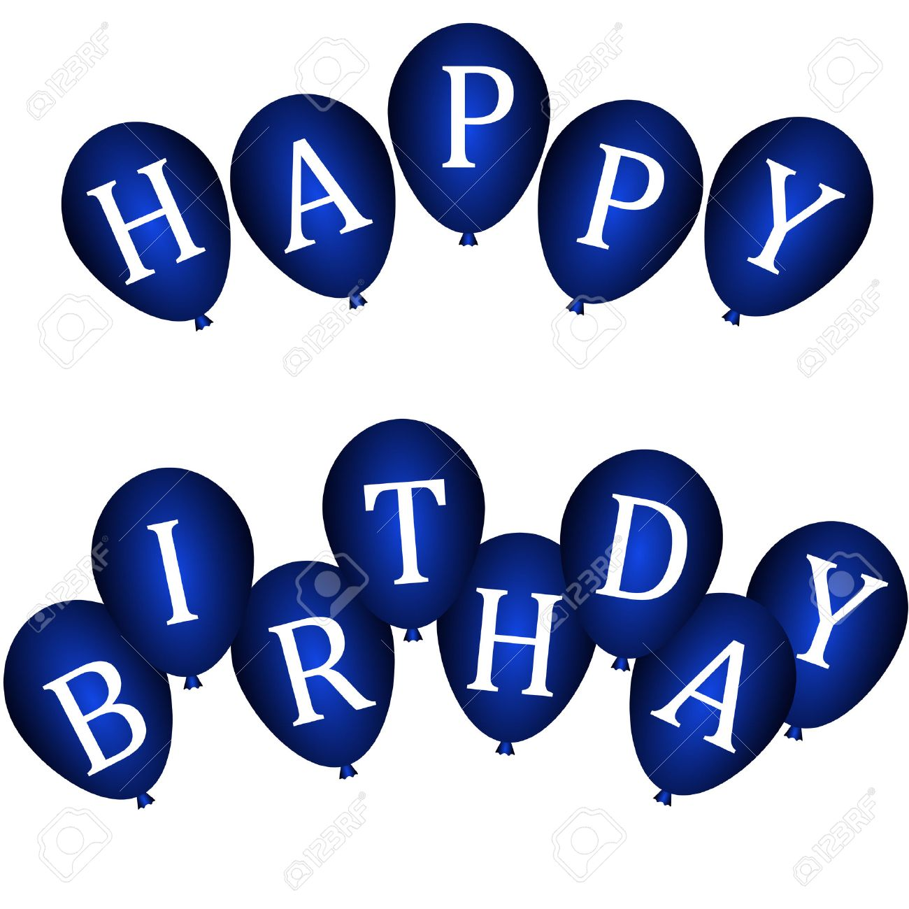 blue happy birthday sign ; 25166166-happy-birthday-banners-with-blue-balloons