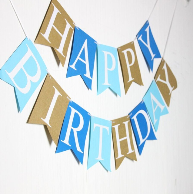 blue happy birthday sign ; Blue-Birthday-Decor-Photo-Prop-Party-Sign-Happy-Birthday-Banner
