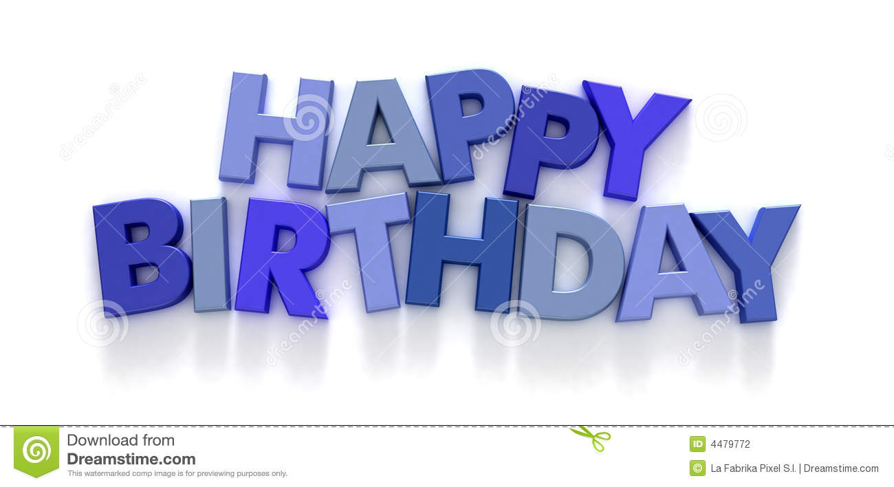 blue happy birthday sign ; happy-birthday-blue-capital-letters-4479772