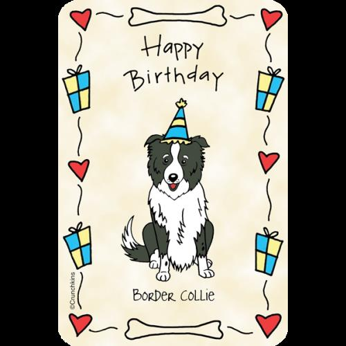 border collie happy birthday images ; 8102W