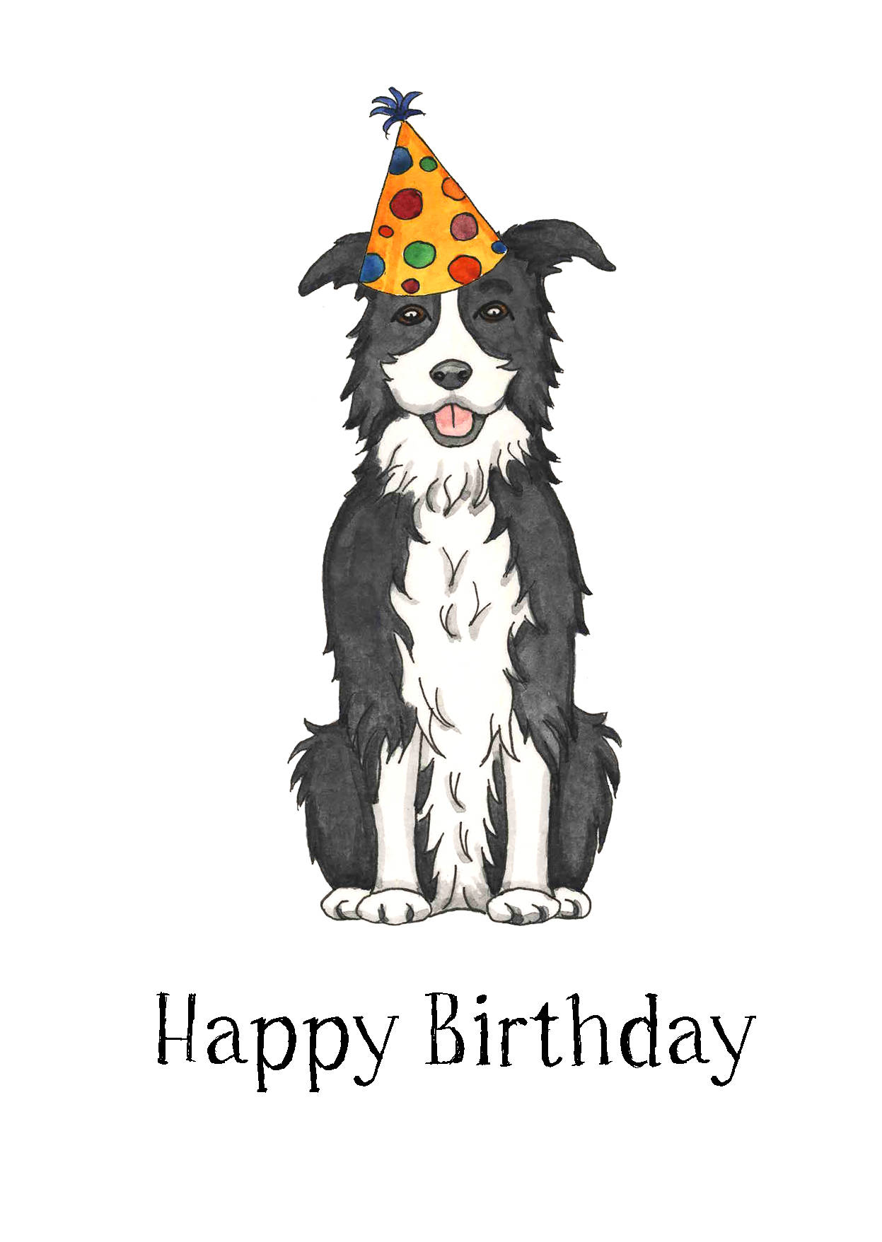border collie happy birthday images ; il_fullxfull