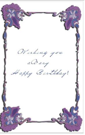 borders for birthday greeting cards ; border-of-greeting-card-birthday-card-with-flower-border