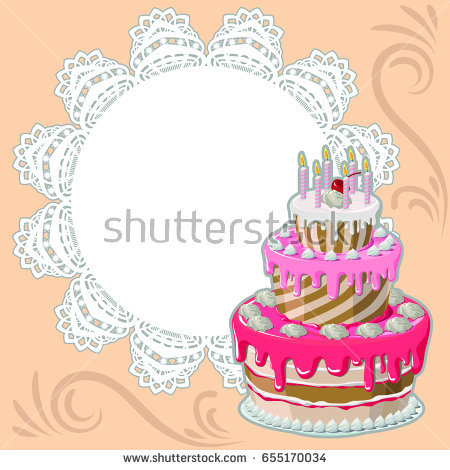 borders for birthday greeting cards ; stock-vector-happy-birthday-greeting-card-decorative-frame-with-openwork-round-border-paper-doily-under-the-655170034