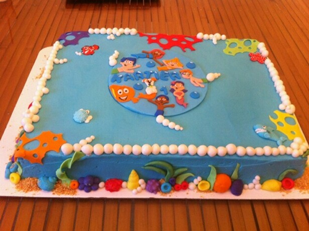 bubble guppies birthday sheet cake ; kartier3