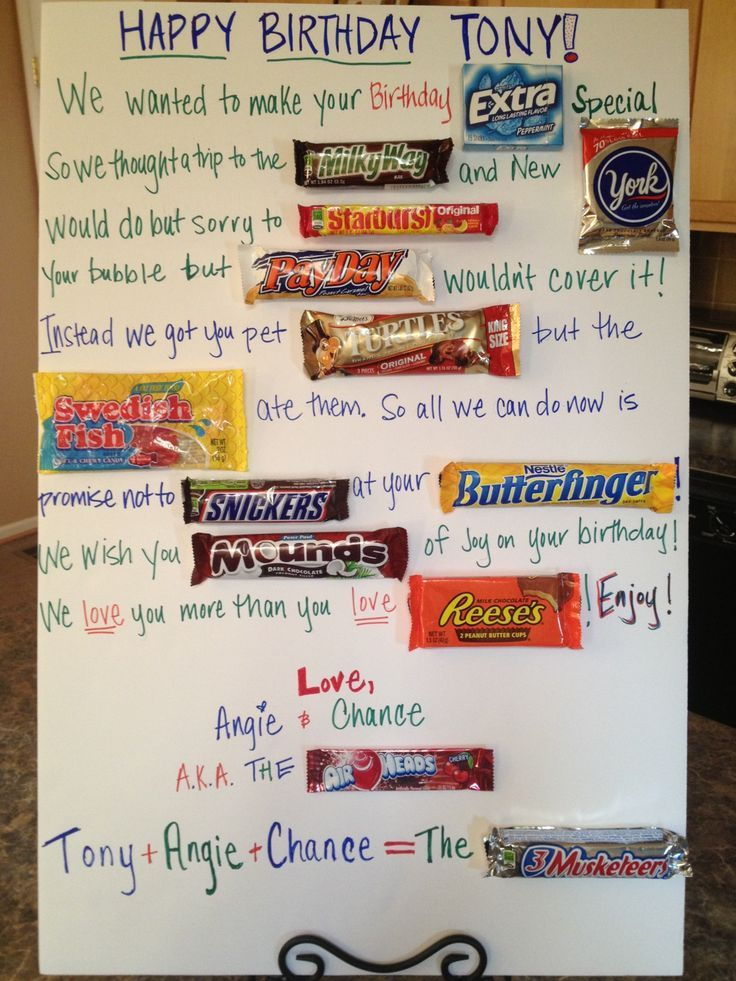 candy message poster for birthday ; 3c75722e26455d7cb684fd0477781476