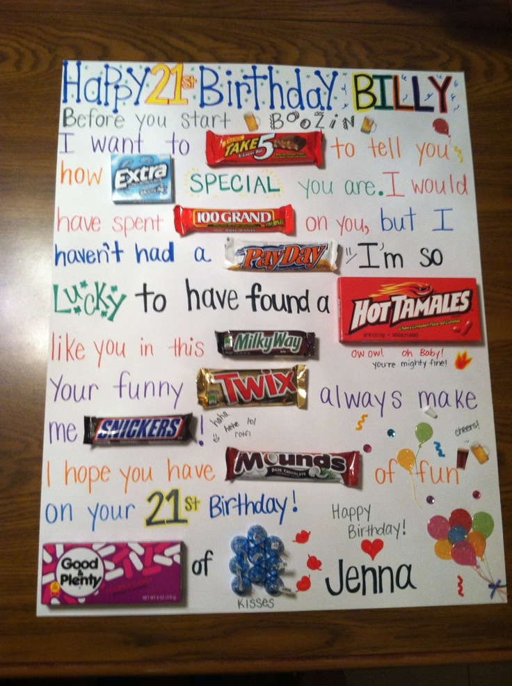 candy message poster for birthday ; 695fc87fa068ab61c30c13f64912492d