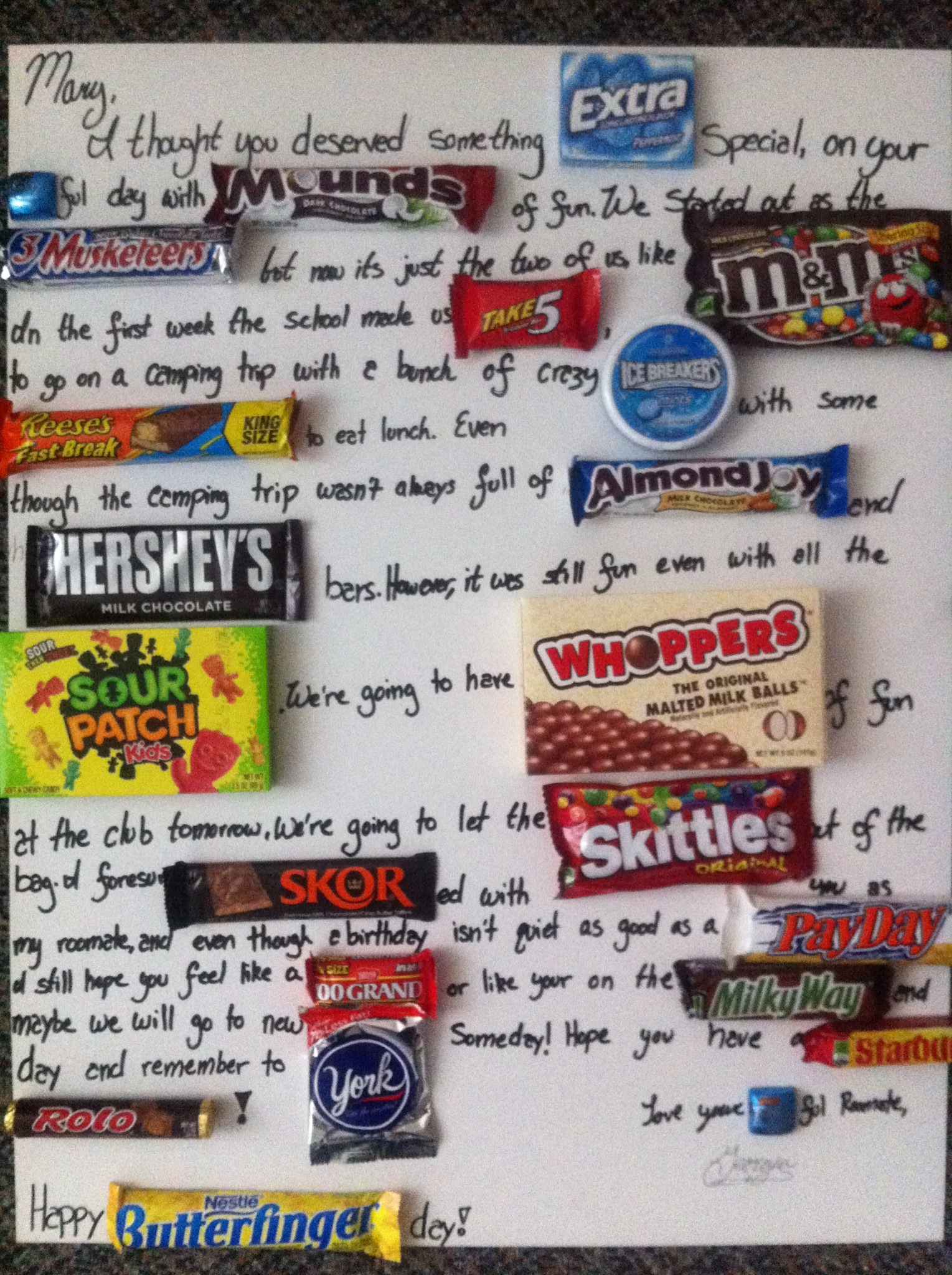 candy message poster for birthday ; c770238270168ece9d3be46db317953b
