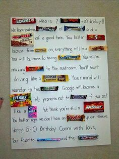 candy message poster for birthday ; df39f137949fc722bdaddfe8d9249685--candy-card-birthday-th-birthday-cards
