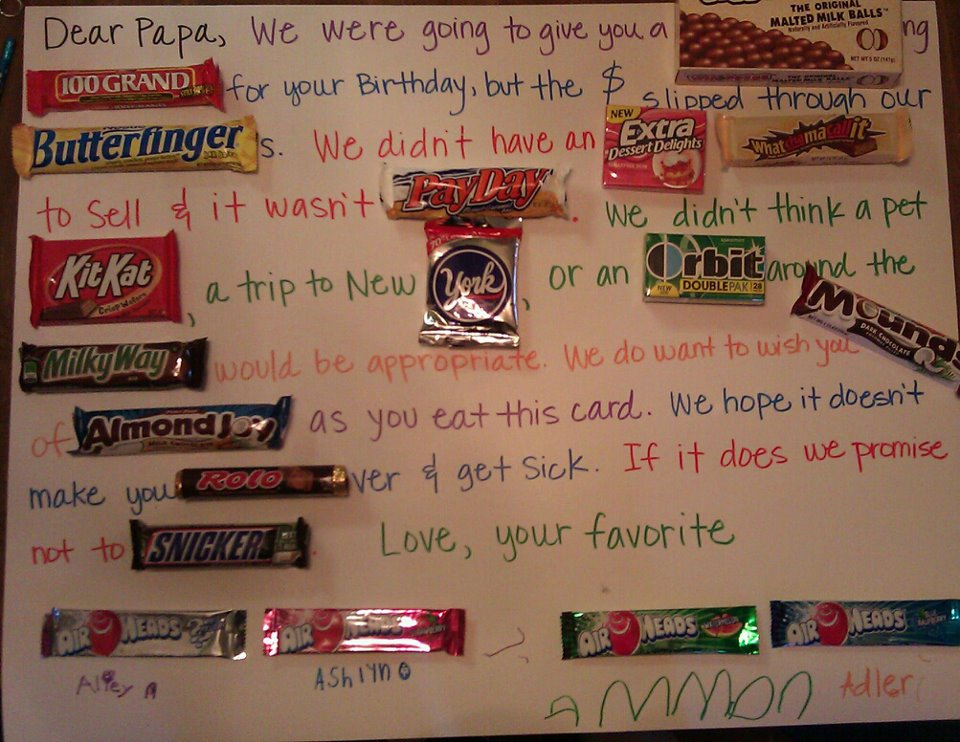 candy message poster for birthday ; f69afc734c248d1e100bb042c32a9fb6