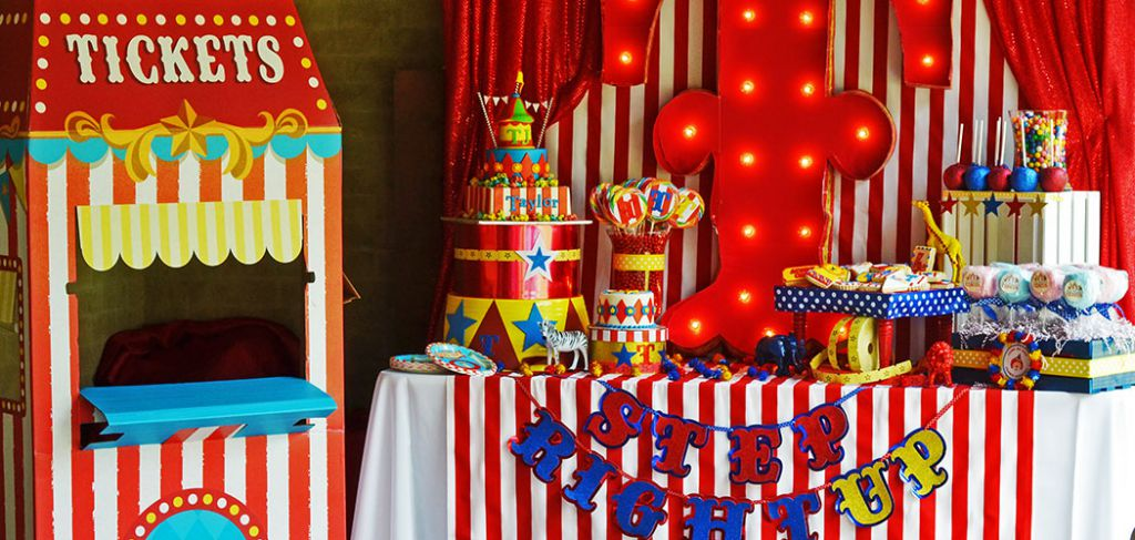 carnival themed birthday banner ; Carnival-Party-1
