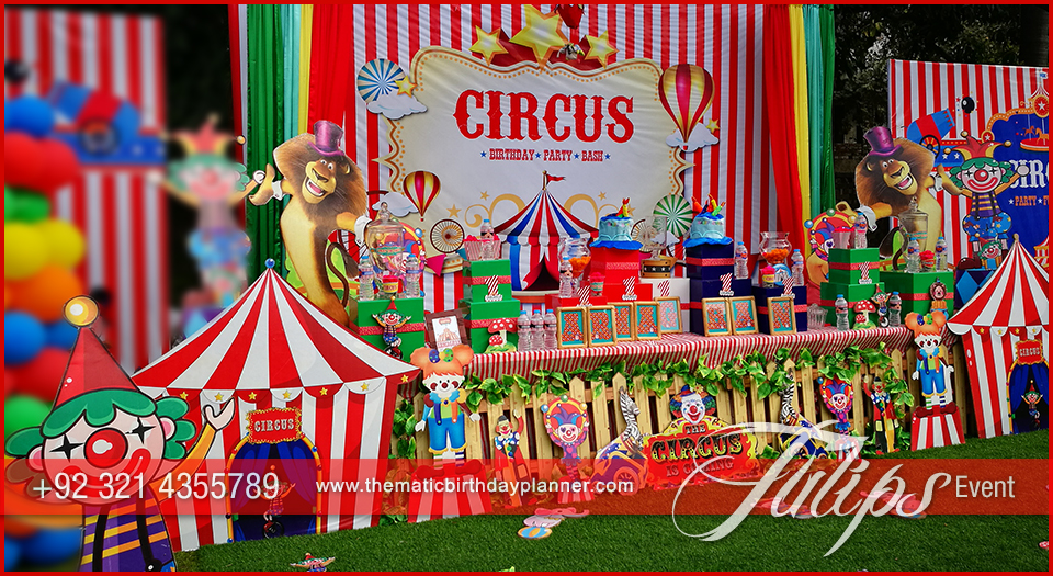 carnival themed birthday banner ; Plan-Carnival-Theme-Birthday-Party-decorations-in-Pakistan-18