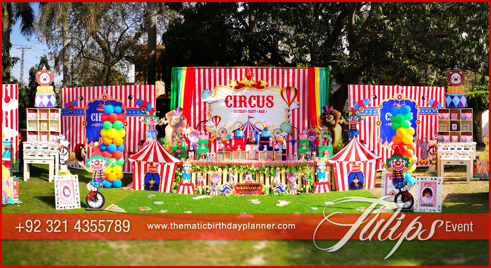 carnival themed birthday banner ; Plan-Carnival-Theme-Birthday-Party-decorations-in-Pakistan-35