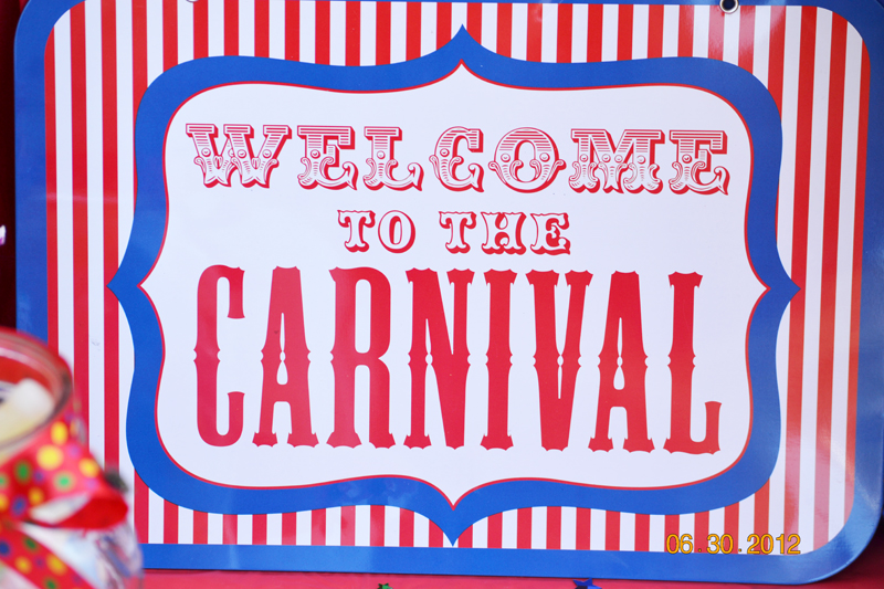 carnival themed birthday banner ; carnival-welcome