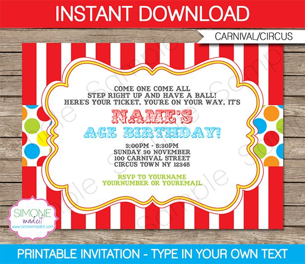 carnival themed birthday invitation wording ; Carnival-Birthday-Invitations-as-an-additional-inspiration-for-a-appealing-Birthday-invitation-design-with-appealing-layout-2