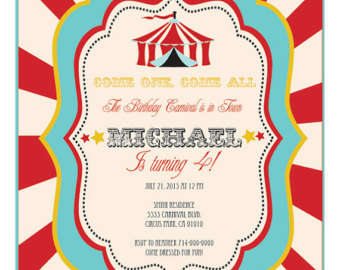 carnival themed birthday party invitation wording ; Carnival-Party-Invitations-cool-sample-ideas-design-best-cartoon-color