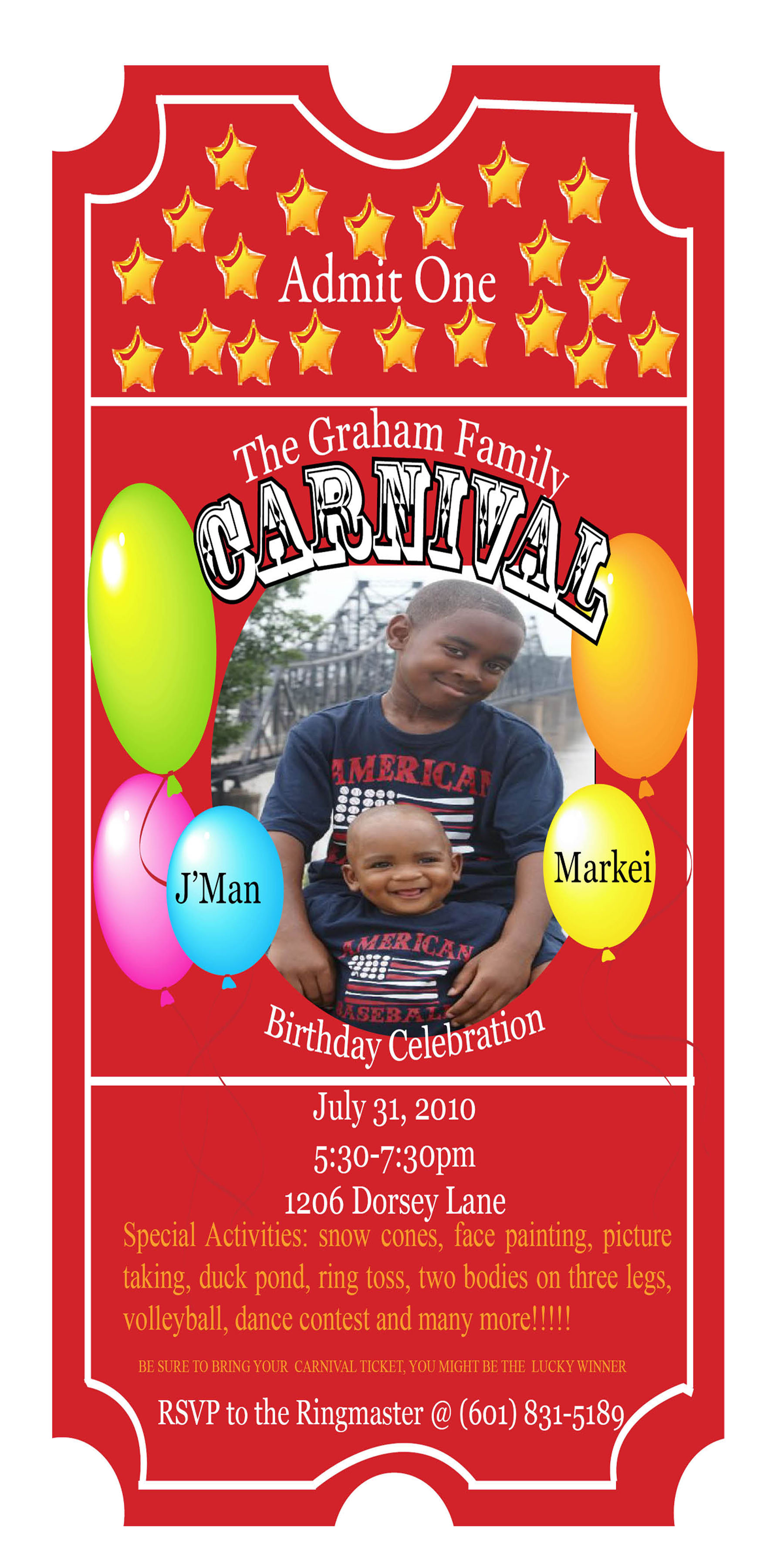 carnival themed birthday party invitation wording ; Carnival-Themed-Birthday-Party-Invitation-Templates-combined-with-your-creativity-will-make-this-looks-awesome-2