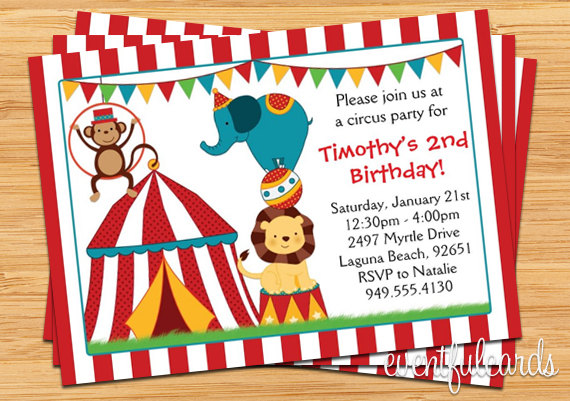 Carnival Themed Birthday Party Invitation Wording Fascinating Circus Invitations Which