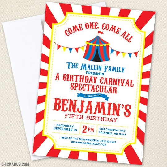 carnival themed birthday party invitation wording ; Remarkable-Circus-Party-Invitations-To-Design-Party-Invitation-Wording