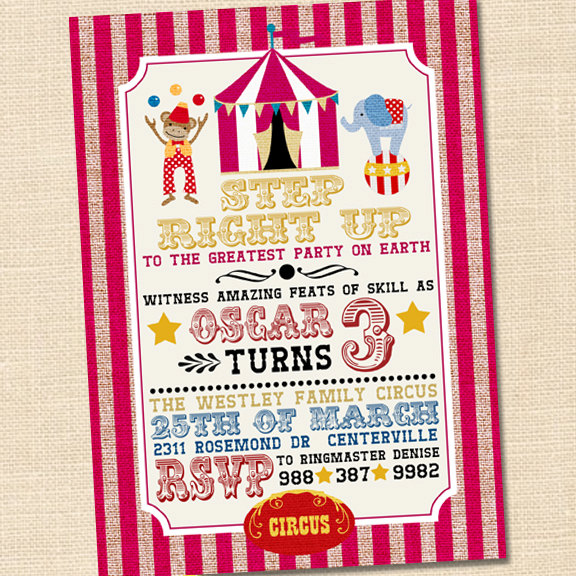 carnival themed birthday party invitation wording ; circus-party-invitations-step-right-up-circus-invitation-circus-themed-party-circus