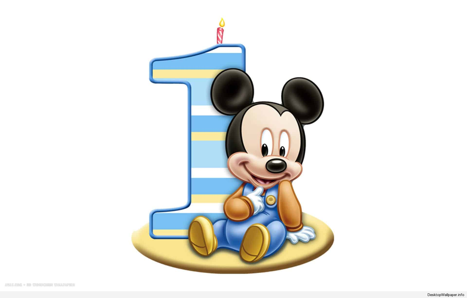 cartoon birthday wallpaper ; mickey-mouse-1st-birthday-wallpaper