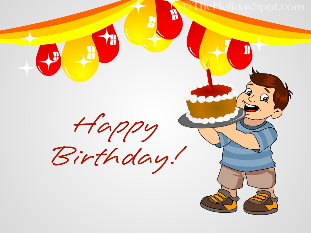 cartoon birthday wallpaper ; wall_big6