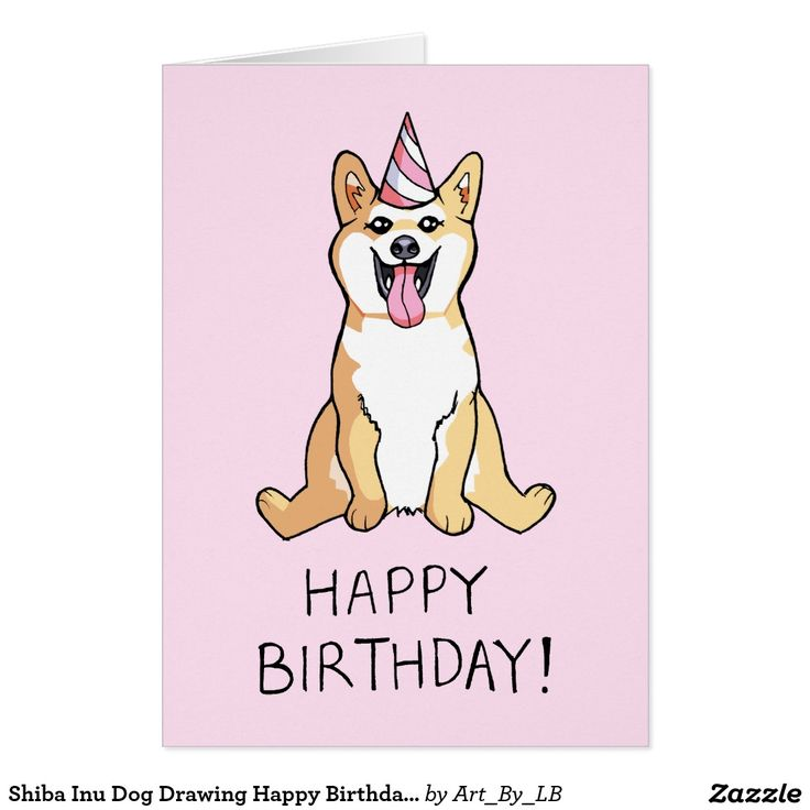 cartoon drawings for birthday cards ; c3d58bcdc4dbdd247295abd33b955099--dog-drawings-shiba-inu