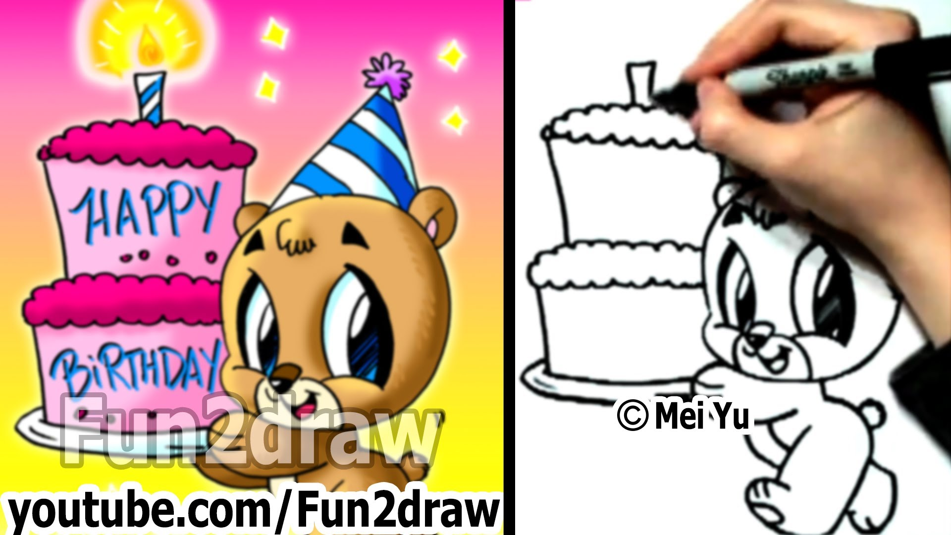 cartoon drawings for birthday cards ; maxresdefault