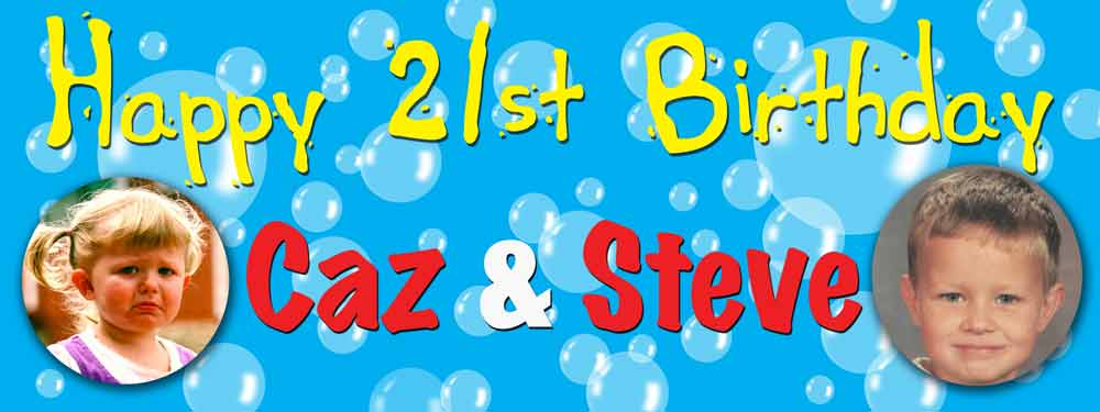 cheap personalised birthday banners with photos ; BB21