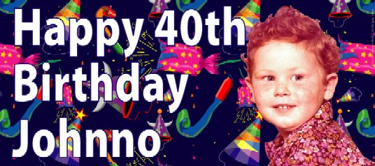 cheap personalised birthday banners with photos ; Photo-Birthday-Banner