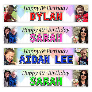 cheap personalised birthday banners with photos ; s-l300
