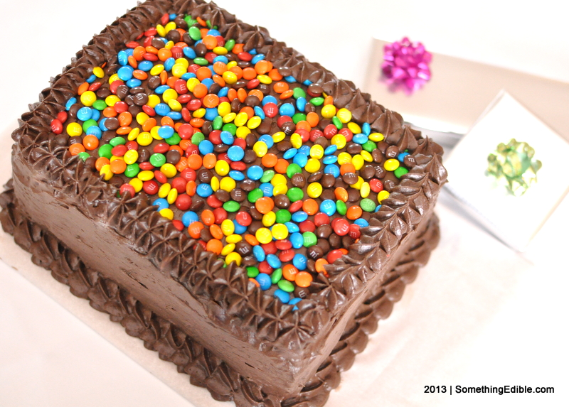 chocolate birthday sheet cake ; SomethingEdible-Chocolate_Layer_Cake_From_a_Sheet_Pan